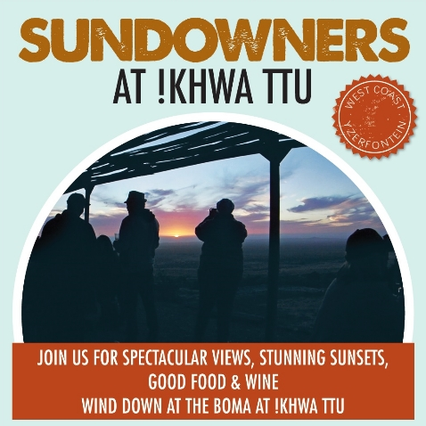 Sundowners at !Khwa ttu 2019